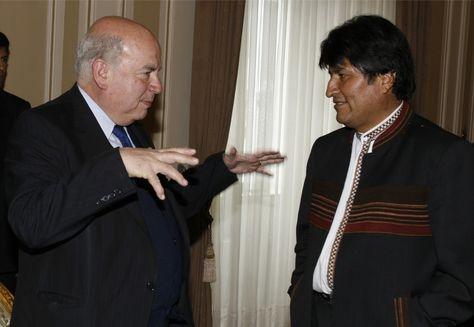 Evo Morales y Miguel Insulza durante un encuentro en 2007.