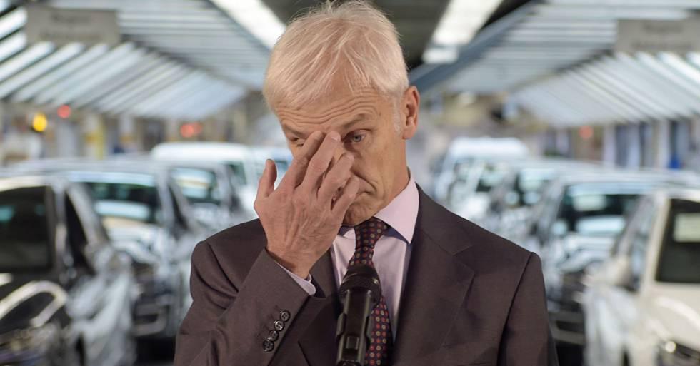 Matthias Müller, presidente de Volkswagen, en la sede de la compañía en Wolfsburgo en octubre de 2015.