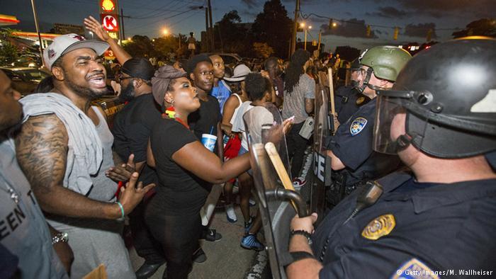 Manifestantes en Baton Rouge.
