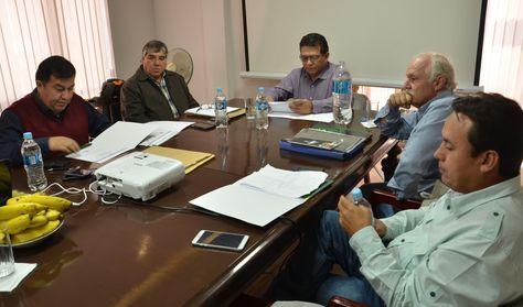 El Comité Ejecutivo de la FBF reunido el jueves en Cochabamba.