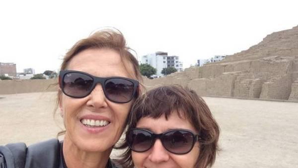 """Sonrisas. Gisele (derecha) le alquilaba su amistad Marijane, y terminaron siendo """"amigas de verdad""""."""
