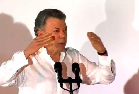 El presidente de Colombia, Juan Manuel Santos, Foto: captura CNN