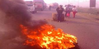 Pobladores de Guarayos bloquean la carretera Santa Cruz-Beni