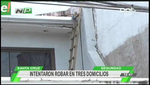 Vecinos frustran robo de tres delincuentes en 3 domicilios