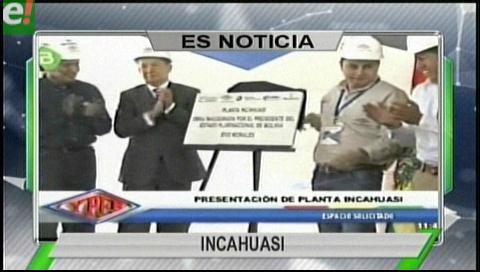 Titulares de TV: Autoridades de Gobierno y de Santa Cruz inauguraron el megacampo gasífero Incahuasi
