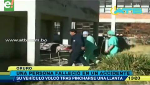 Una persona muere en accidente de tránsito en la carretera a Oruro