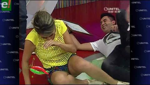 A Grisel Quiroga y Ronald Arnez les encanta caerse