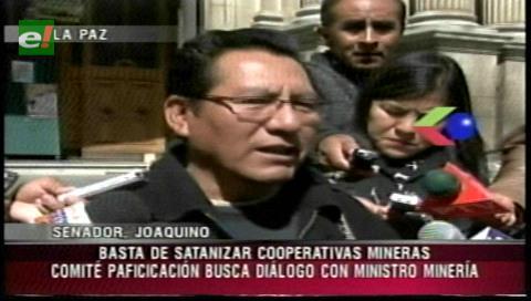 """Senador Joaquino pide no """"satanizar"""" a las cooperativas mineras"""