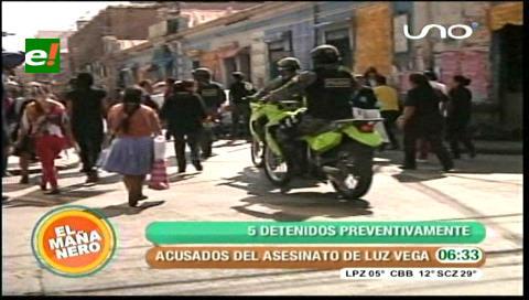 Cochabamba: Encarcelan a los acusados del asesinato de Luz Vega