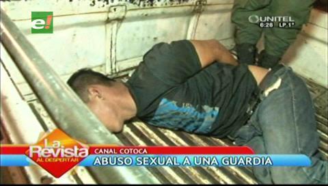 Vecinos capturan al hombre que abusó de una guardia de seguridad
