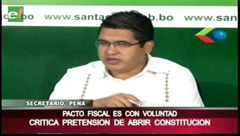 """""""Para agilizar el Pacto Fiscal no se necesita modificar la CPE"""""""