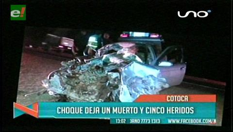 Accidente cobra la vida de una mujer y deja 4 heridos