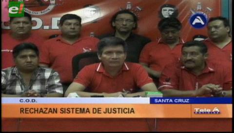Anuncian marcha: COD advierte con tomar el Palacio de Justicia de Santa Cruz