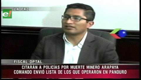 Fiscalía convocará a declarar a policías por la muerte de un cooperativista