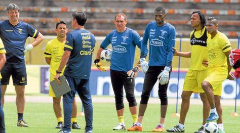 La selección de Ecuador practicó antes de viajar rumbo a La Paz. Foto: El Comercio.