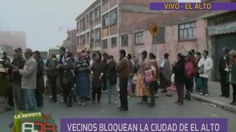 Bloqueo Faro Murillo, El Alto