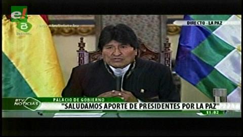 Morales saluda votación democrática en Colombia y dice que el mejor camino para llegar a la paz es el diálogo