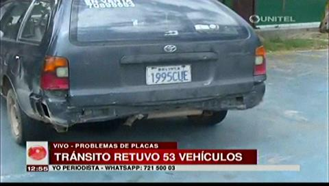 Santa Cruz: Tránsito retuvo 53 vehículos tras operativo de control de placas