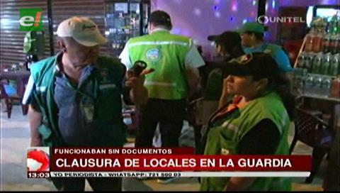 Clausuran locales fuera de norma en La Guardia