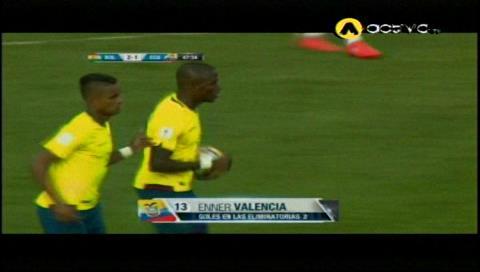 Descuenta Valencia para los ecuatorianos: Bolivia 2-1 Ecuador