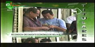Representante del Banco Mundial reconoce el crecimiento económico de Bolivia