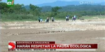 Alcaldía advierte a dragueros que harán respetar la 'Pausa Ecológica' según la Ley