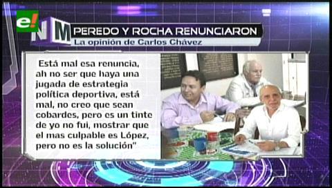 Jugadores bolivianos piden la renuncia de Rolando López