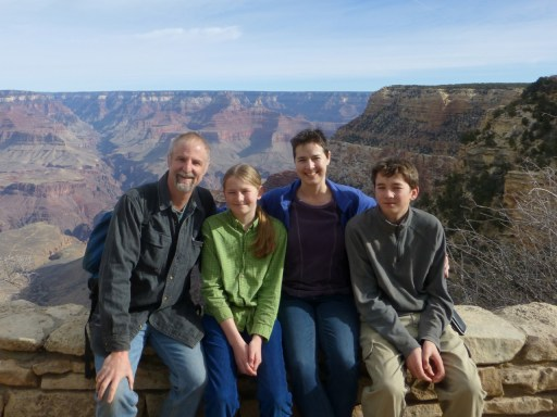 Family photo on the South Rim