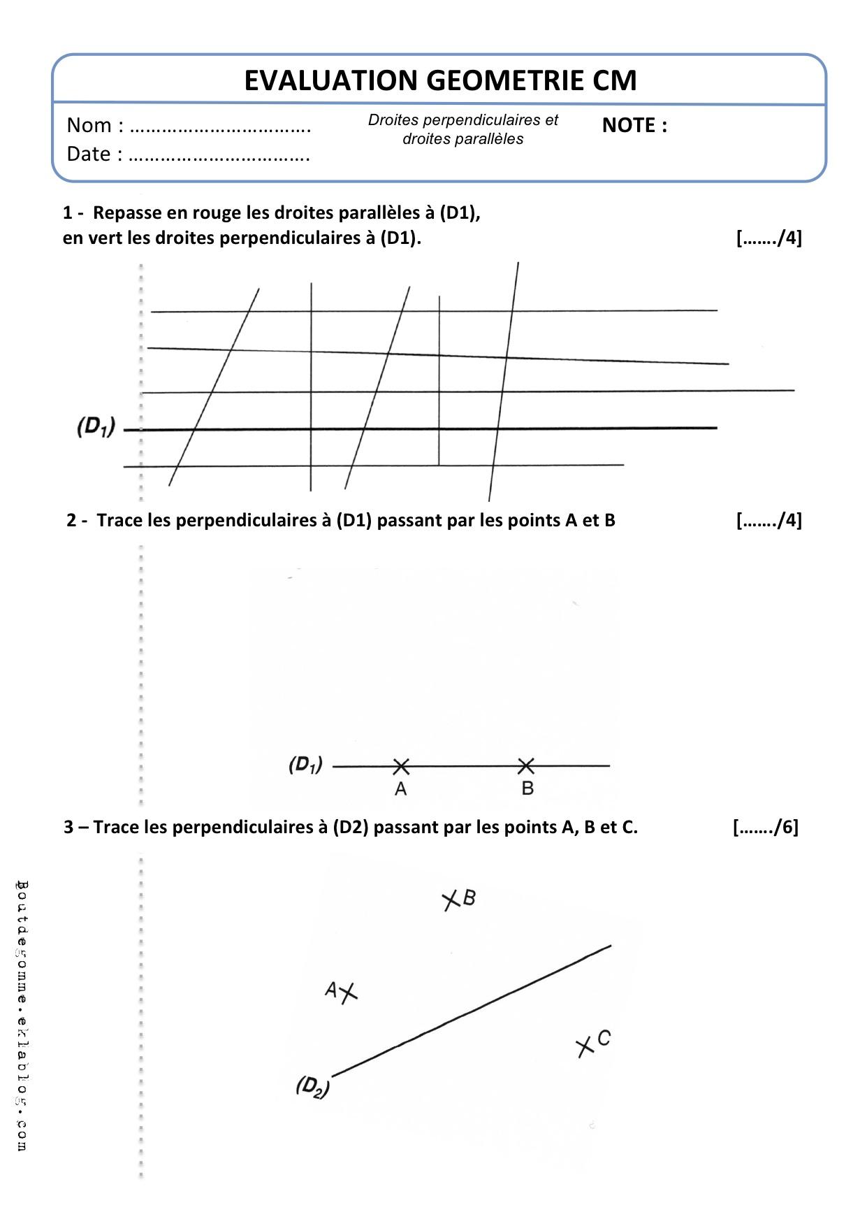 Evaluations CM2 | Bout de Gomme