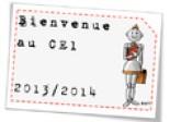 Affichage de Bienvenue au CE1 jusqu'au CM2