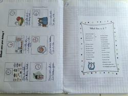 Cahier d'une élève du CE2 au CM2 fin