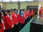 Prosesi pelantikan Ledhak Unhas di Aula Harifin A. Tumpa FH-UH, Selasa (23/5). Mef