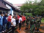 Kondisi pada saat pengamanan kedatangan Jokowi di Unhas. H2a