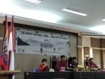 Suasana pembukaan pendidikan dasar (Diksar) XXIII Carefa Unhas di Aula Harifin A.Tumpa Fakultas Hukum Unhas, Kamis (15/3).  Kas