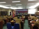 Acara pemaparan kertas kerja bakal calon dekan FH-UH di Aula Harifin A. Tumpa FH-UH, Rabu (28/3). Rst