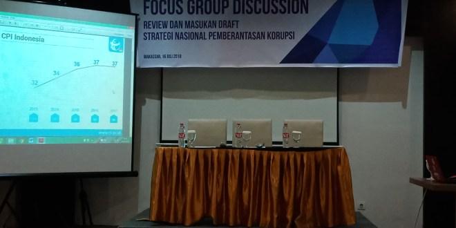 Bahas Stranas Pencegahan Korupsi, ACC Gandeng TII Adakan FGD