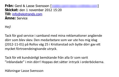 Ekstrands referens Lasse Svensson