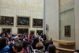 Mona Lisa dans le musée du Louvre