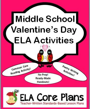 valentines day activities for middle school cover page