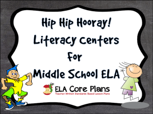literacy centers cover page