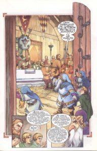 Bilbo y los enanos llegan a Esgaroth, según David T. Wenzel