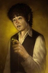 Bilbo con el Anillo, según Franco Rivolli