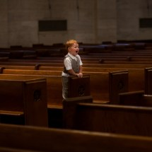 Ring Bearer in Empty Church