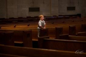 Ring Bearer in Empty Church