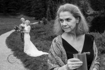 Mother of Bride with Flask