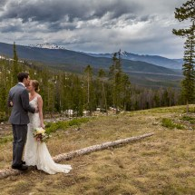 Bride and Groom in Rocky Mountains