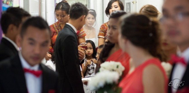 Asian wedding party