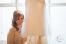 Beautiful bride with dress