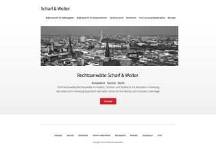 Scharf & Wolter WordPress Website