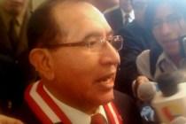 Presidente del Poder Judicial y de la Corte Suprema de Justicia, Víctor Ticona Postigo.